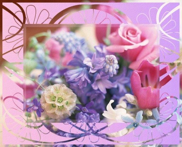 FOND D'IMAGE bouquet fleuri